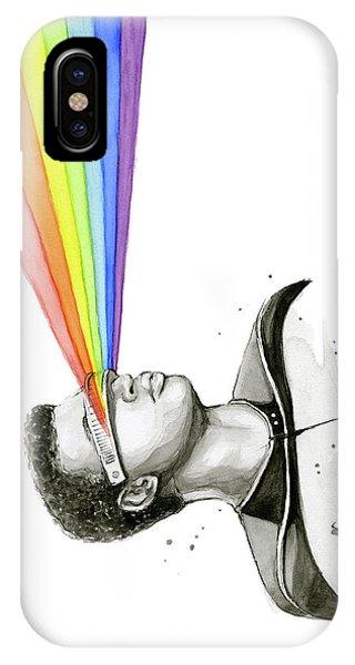 Science Fiction iPhone Case - Geordi Sees The Rainbow by Olga Shvartsur