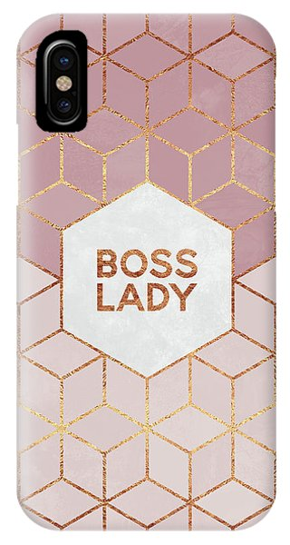 Pink iPhone Case - Boss Lady by Elisabeth Fredriksson