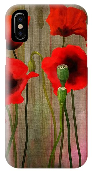 IPhone Case featuring the painting Poppies  by Ivana Westin