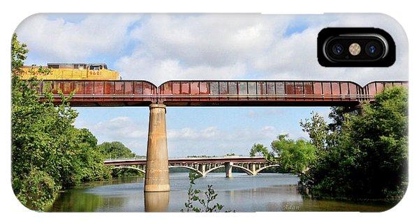 Train Across Lady Bird Lake IPhone Case