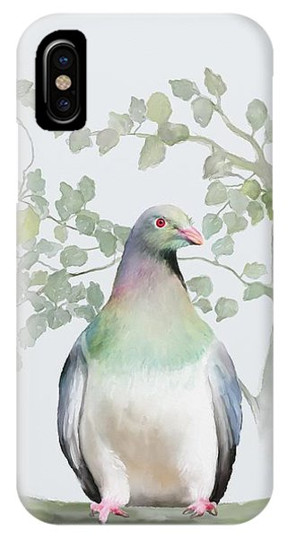 IPhone Case featuring the painting Wood Pigeon by Ivana Westin