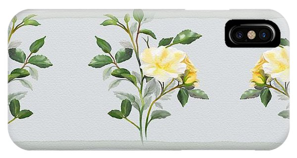 Yellow Watercolor Rose IPhone Case