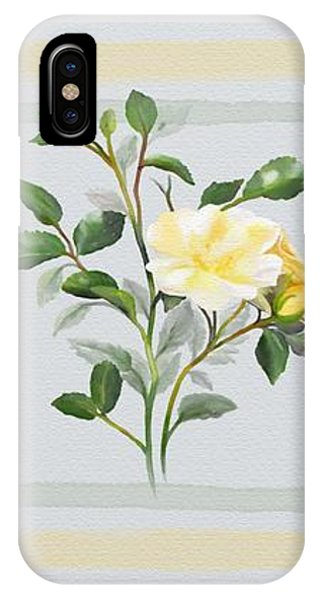 IPhone Case featuring the painting Yellow Watercolor Rose by Ivana Westin