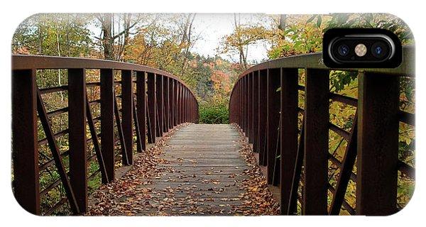 Thompson Park Bridge Stowe Vermont IPhone Case