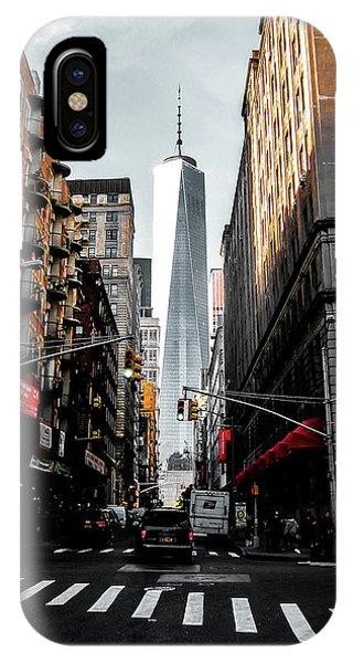 Broadway iPhone Case - Lower Manhattan One Wtc by Nicklas Gustafsson