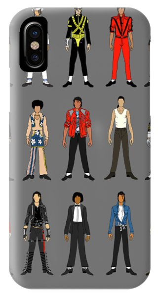 Famous People iPhone Case - Outfits Of Michael Jackson by Notsniw Art