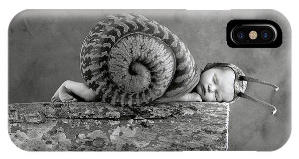 Babies iPhone Case - Julia Snail by Anne Geddes