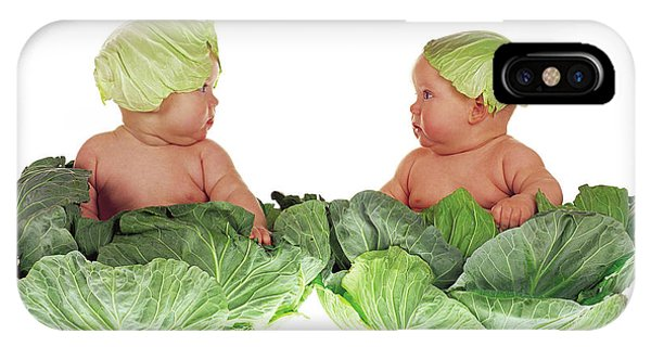 Babies iPhone Case - Cabbage Kids by Anne Geddes