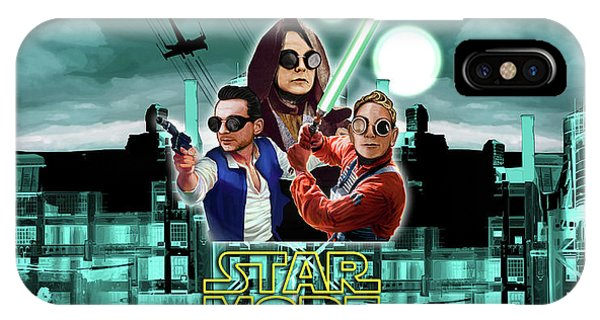 Andrew iPhone Case - Star Mode - Star Wars And Depeche Mode by Luc Lambert