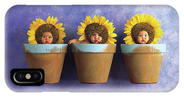 Sunflower iPhone X / XS Case - Sunflower Pots by Anne Geddes
