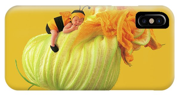 Yellow Flowers iPhone Case - Baby Bee by Anne Geddes