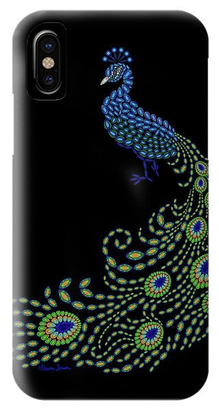Jeweled Peacock IPhone Case