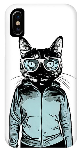 Glass iPhone Case - Cool Cat by Nicklas Gustafsson
