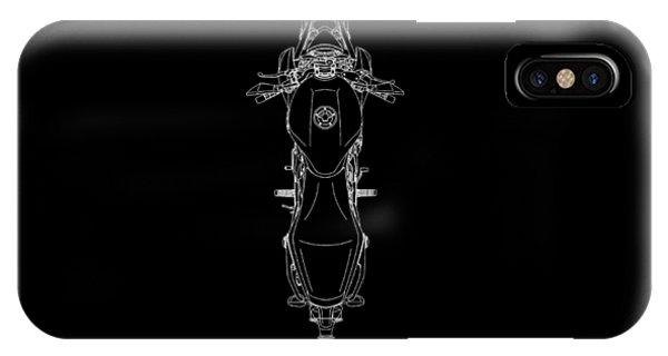 Er iPhone Case - Blueprint Of A Er-6n Motorcycle by Mark Rogan