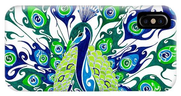 Peafowl iPhone Case - Dance In The Rain.. by Anushree Santhosh