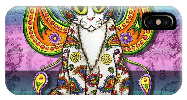 Rainbow Paisley Fairy Cat IPhone Case