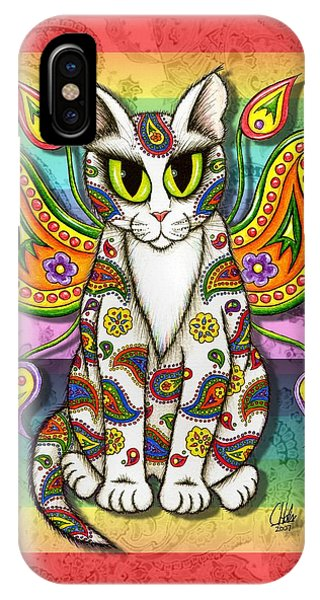 Rainbow Paisley Fairy Cat IPhone Case