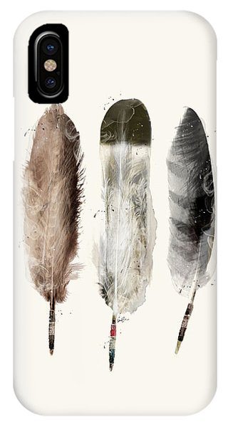 Feathers iPhone Case - Native Feathers by Bri Buckley