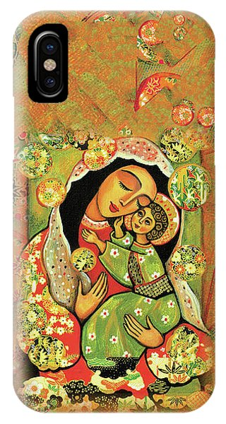 IPhone Case featuring the painting Madonna And Child by Eva Campbell