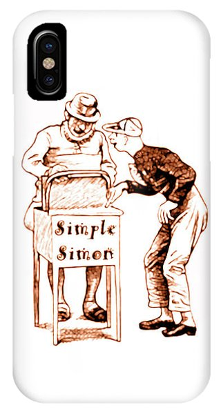 Simple Simon Mother Goose Vintage Nursery Rhyme IPhone Case