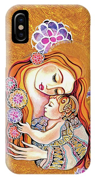 IPhone Case featuring the painting Little Angel Sleeping by Eva Campbell