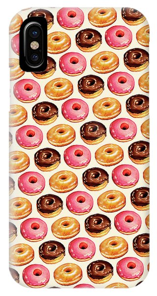 Food iPhone Case - Donut Pattern by Kelly Gilleran