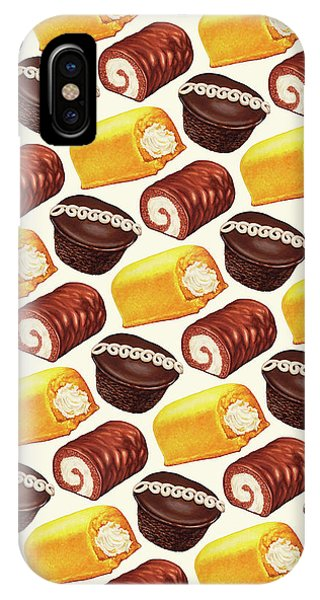 Retro iPhone Case - Hostess Cakes Pattern by Kelly Gilleran