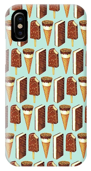 Retro iPhone Case - Ice Cream Novelties Pattern by Kelly Gilleran