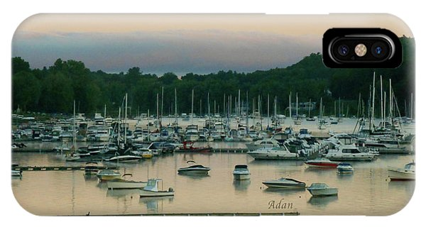 Sunrise Over Mallets Bay Variations - Three IPhone Case