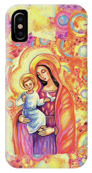 IPhone Case featuring the painting Blessing Of The Light by Eva Campbell