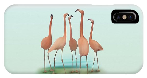 Flamingo Mingle IPhone Case