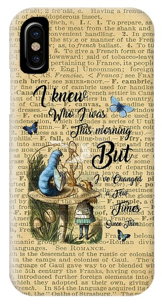 Alice In Wonderland Quote Vintage Dictionary Art IPhone Case