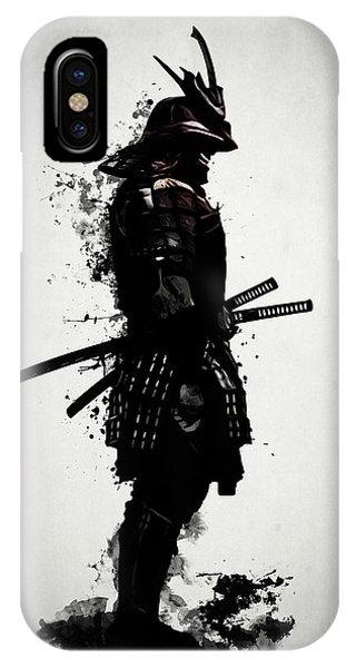 Dark iPhone Case - Armored Samurai by Nicklas Gustafsson