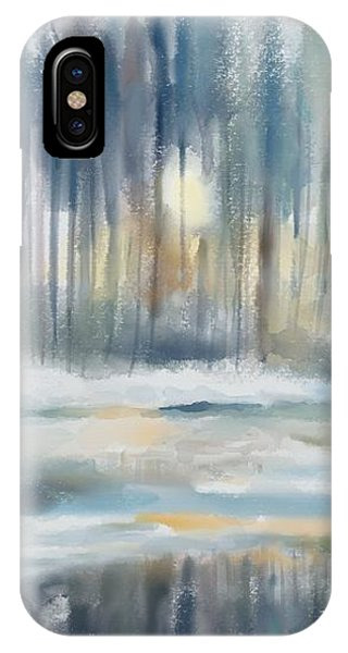 IPhone Case featuring the digital art Snow From Yesterday by Ivana Westin