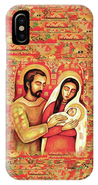 IPhone Case featuring the painting Holy Family by Eva Campbell