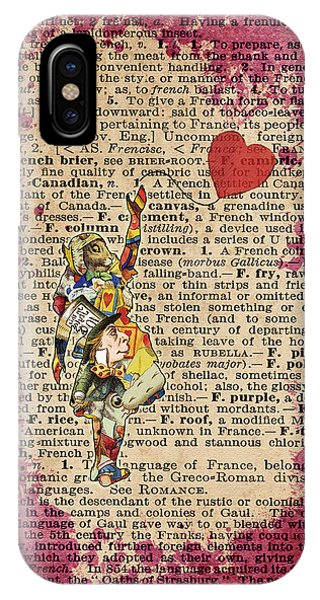 Vintage Alice In Wonderland Collage Who In The World Am I Quote IPhone Case