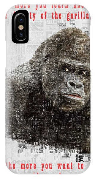 The Dignity Of A Gorilla IPhone Case