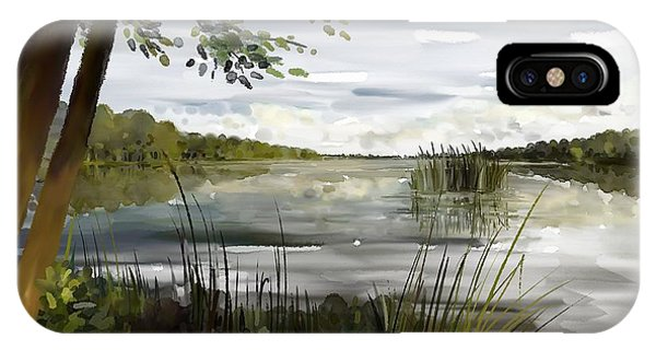 Quiet Day By Lake IPhone Case