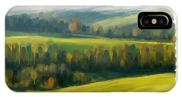 IPhone Case featuring the painting Rich Landscape by Ivana Westin