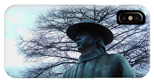 Austin Hike And Bike Trail - Iconic Austin Statue Stevie Ray Vaughn - Two IPhone Case