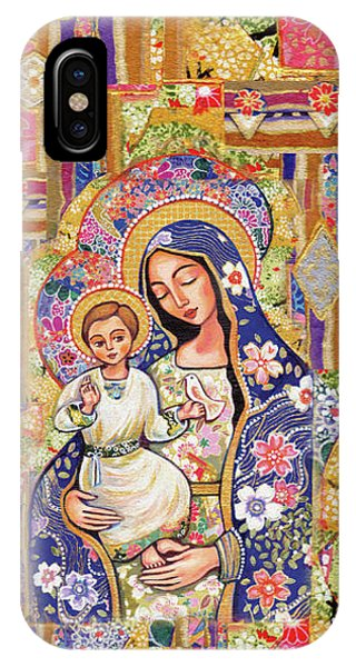 IPhone Case featuring the painting Panagia Eleousa by Eva Campbell