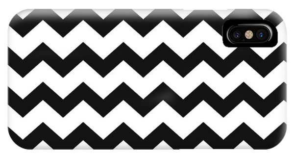 Black White Geometric Pattern IPhone Case