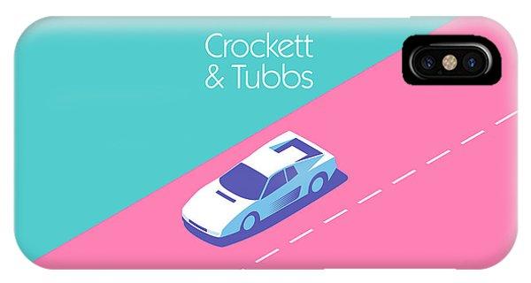 Florida iPhone Case - Crockett And Tubbs Retro 80s by Ivan Krpan