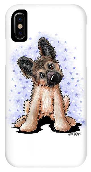 Curious Shepherd Puppy IPhone Case