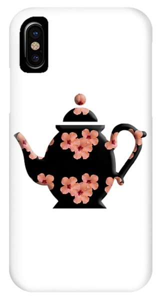 Hibiscus Pattern Teapot IPhone Case