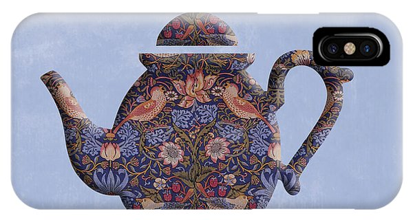 The Strawberry Thief Pattern Teapot IPhone Case