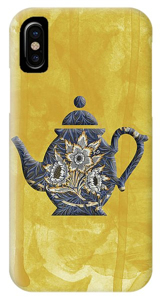 Tulips And Willow Pattern Teapot IPhone Case