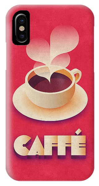Cafe iPhone Case - Coffee Retro - Red by Ivan Krpan