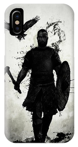 Crow iPhone Case - To Valhalla by Nicklas Gustafsson