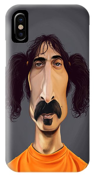 Frank Zappa iPhone Case - Celebrity Sunday - Frank Zappa by Rob Snow